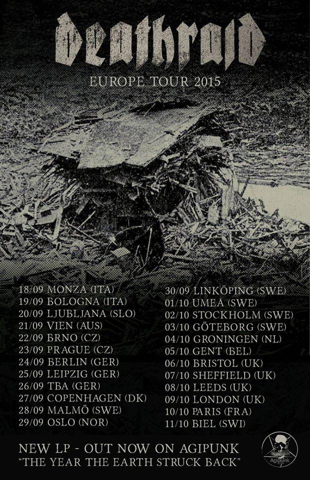 DEATHRAID European Tour September 2015