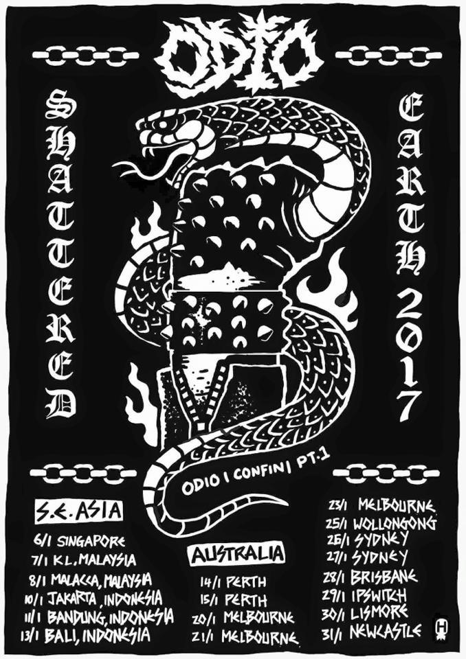 ODIO S.E. ASIA & AUSTRALIA TOUR!